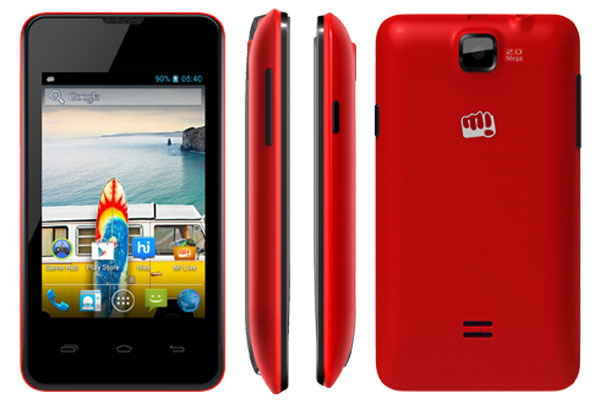 Micromax Bolt A58 Features and Specifications