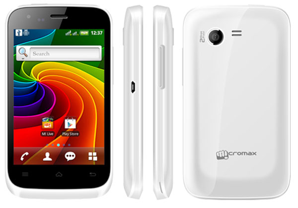 Micromax Bolt A62 Features and Specifications