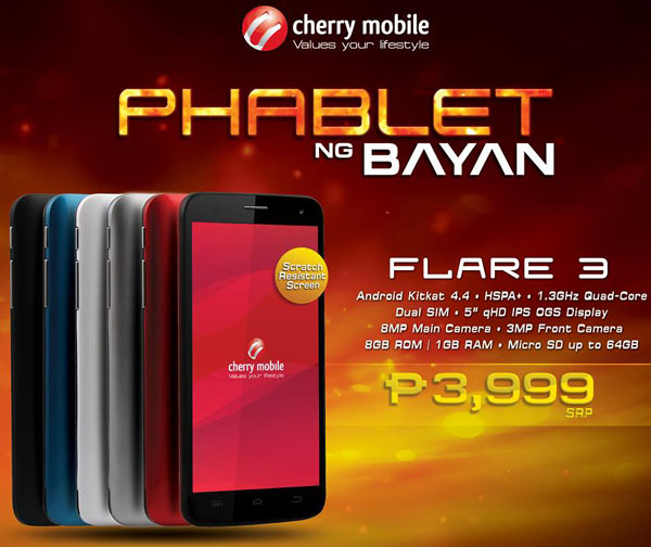 Cherry Mobile Flare 3 Features and Specifications - THE SPECS