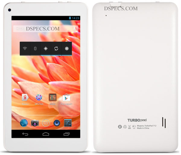 TurboPad 712 Features and Specifications