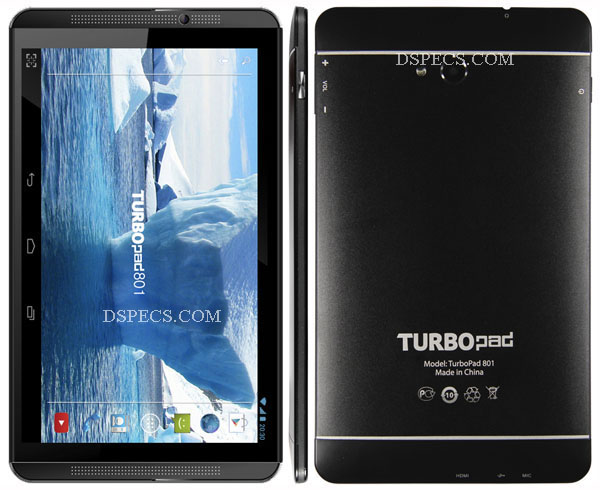 TurboPad 801 Features and Specifications