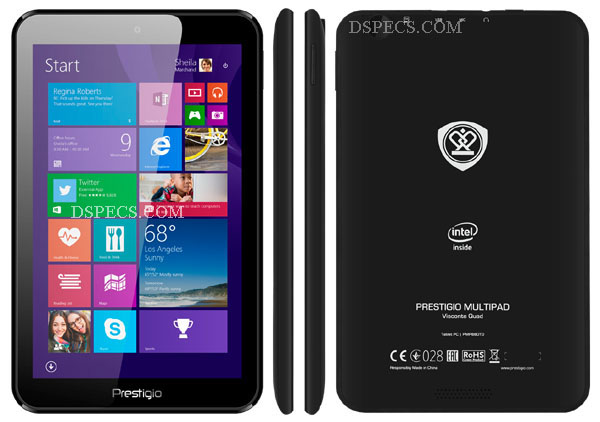 Prestigio MultiPad Visconte Quad Features and Specifications